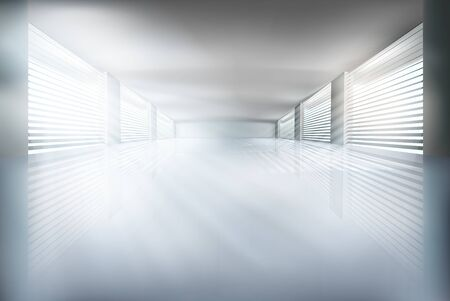 living room wall: Illustration of empty interior. Vector illustration. Illustration