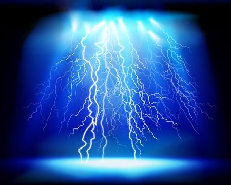 Thunderstorm, light show. Vector illustration.