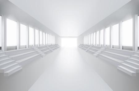 articles: Empty fashion runway. Vector illustration. Illustration