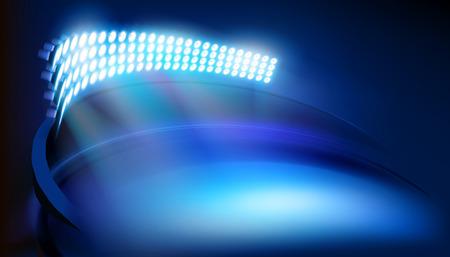 Illuminated Stadium. Vector illustration. Illustration