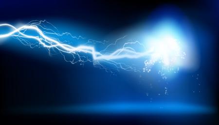Elektrische vonk vectorillustratie.