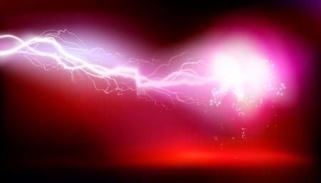 Esplosione, scarica elettrica. Illustrazione vettoriale Archivio Fotografico - 91827506