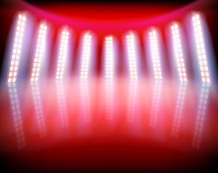 Scène éclairée dans un studio de télévision. Banque d'images - 91947026