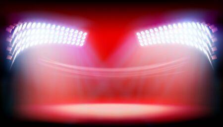 Light show on big stadium. Vector illustration. Illustration
