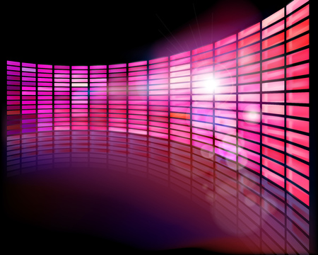 Wall screen on the stage. Vector illustration.