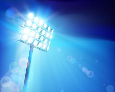 Stadion Scheinwerfer Vektor-Illustration