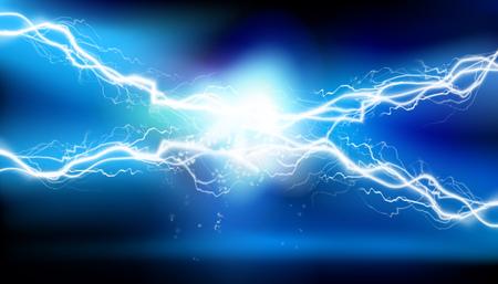 Heat lighting, arc. Electrical energy. Vector illustration.