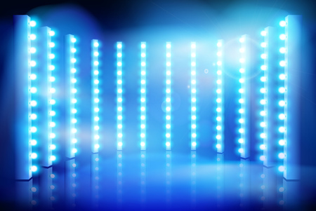 Show on the stage. Stage lighting. Vector illustration. Standard-Bild - 109803326