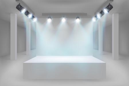 Empty exhibition in the gallery. Vector illustration. Vector Illustration