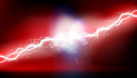Heat lighting. High voltage energy. Vector illustration.