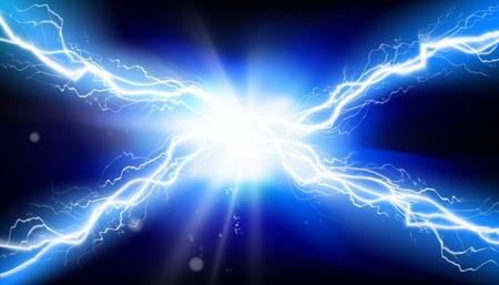 Electric discharge. Heat lighting. Vector illustration.