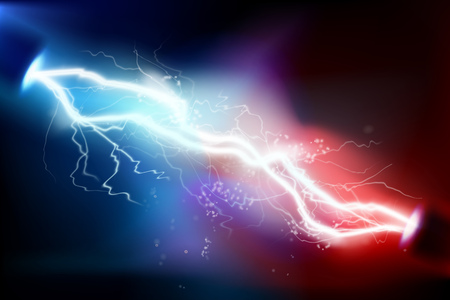 Heat lighting. Electric discharge. Vector illustration. Illustration