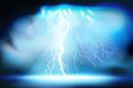 Heat lighting. Electrical discharge. Vector illustration.