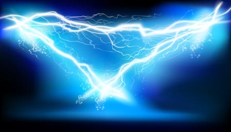Illuminazione di calore, arco. Energia elettrica. Illustrazione vettoriale. Vettoriali