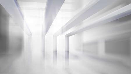 Empty hall in a modern office building. Graphic elements for your design. Illuminating sun rays. Abstrac vector illustration. Illusztráció