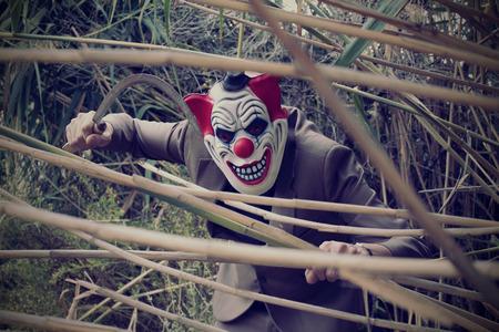 evil clown: Scary clown Stock Photo