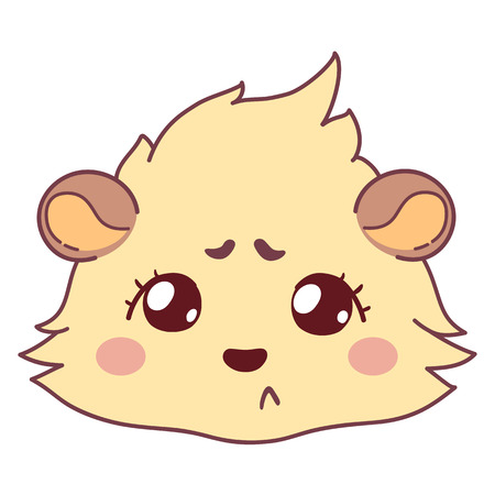 Emoji with a sad cavy, offended girl emoticons, dissatisfied emoji