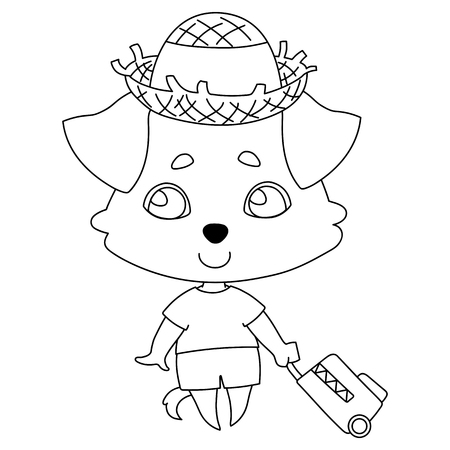 Vector illustration for coloring book, stencil, design, prints.