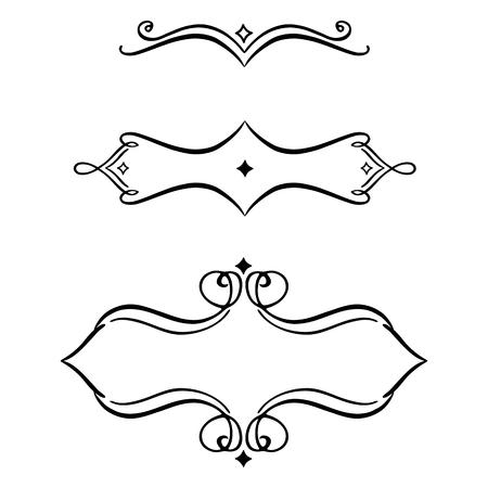 Vector scroll embellishment on white. Çizim