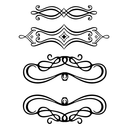 Vector scroll embellishment on white. Stock Vector - 124713459