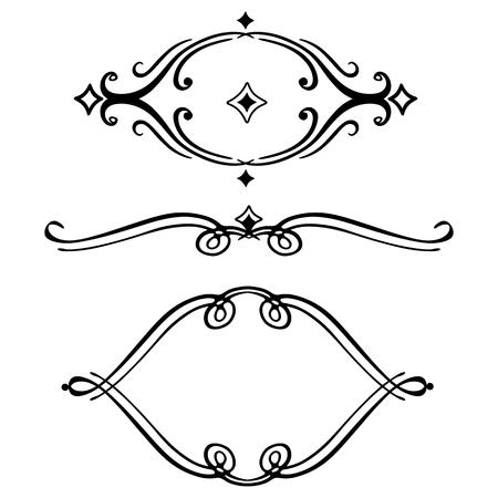 Vector scroll embellishment on white. Illustration