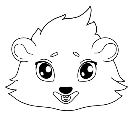 Funny cavy smiling - emoticons icon smile, smile emoji.  イラスト・ベクター素材