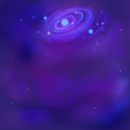 A fictional galaxy in space. Background for text, illustration for design. Stok Fotoğraf