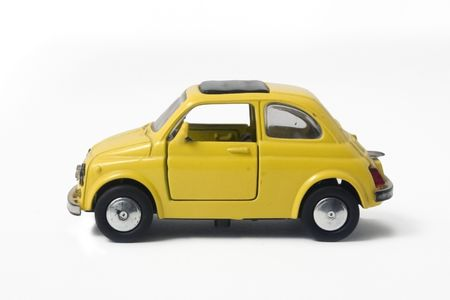 a little model of an old italian car