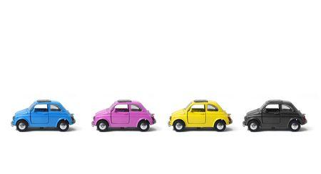 a little model of an old italian car