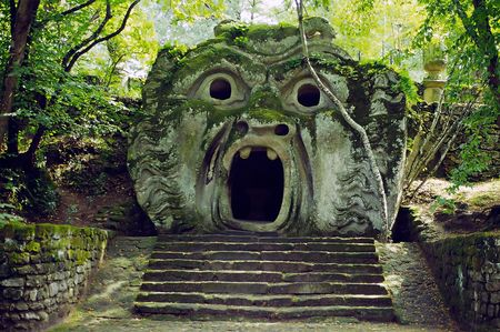 monsters in bomarzo, italy Standard-Bild