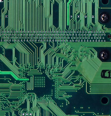 green background with motherboards electronic circuit photo
