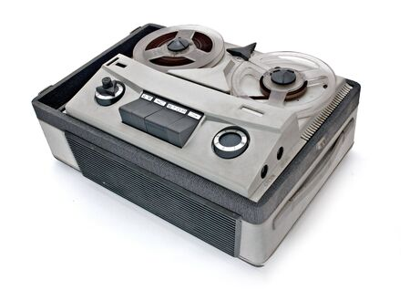 vintage grey analog recorder reel to reel