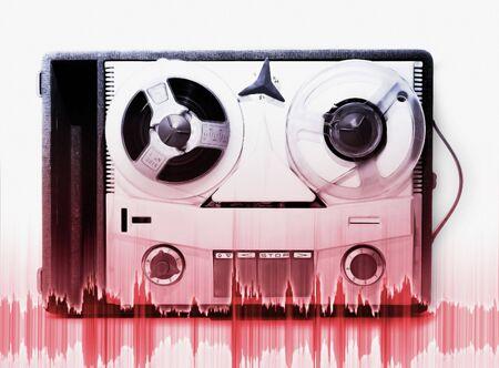 vintage grey analog recorder reel to reel Stock Photo - 752825