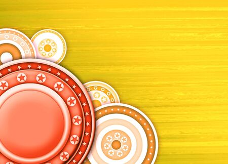 colorful abstract background with circles and stripes photo