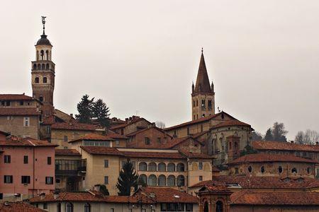 saluzzo: saluzzo, a beautiful historic city in the north of italy
