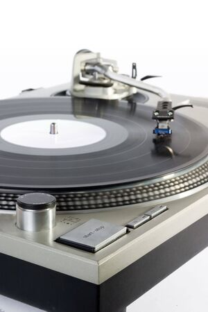 turntable - dj's vinyl player isolated on white background Stock Photo - 827374