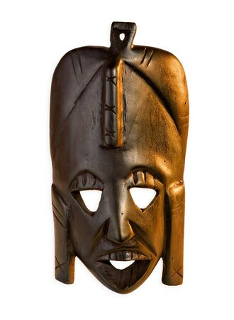 maschera tribale: maschera tribale africana Archivio Fotografico
