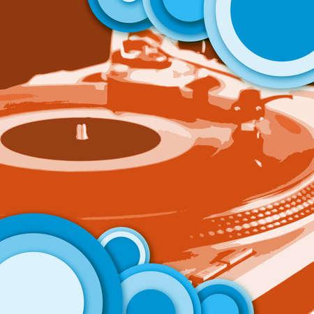 turntable - dj's vinyl player with circle decoration Stock Photo - 852268