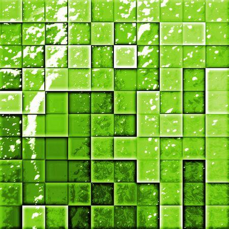 colorful modern mosaic tile in a bathroom green