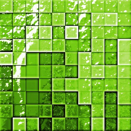 colorful modern mosaic tile in a bathroom green