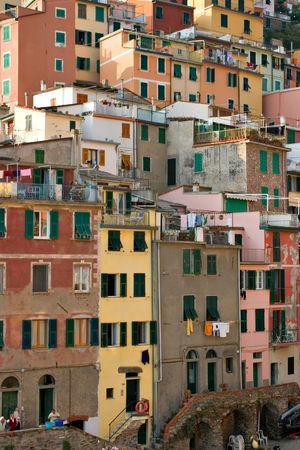 vernazza: the tipica architecture in the beautiful Vernazza - Cinque Terre - Italy