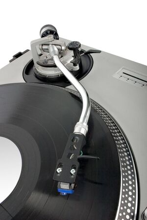 turntable - dj's vinyl player isolated on white background Stock Photo - 945069