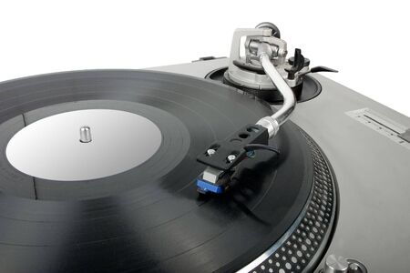 turntable - dj's vinyl player isolated on white background Stock Photo - 945070
