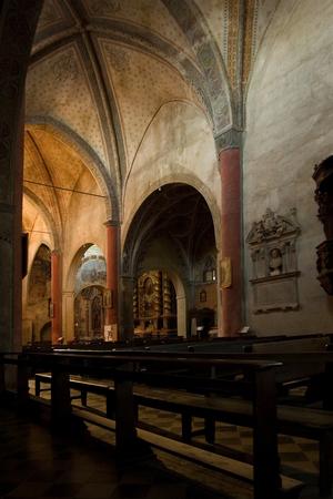 saluzzo: churchs interior of San Giovanni in saluzzo, a beautiful historic city in the north of italy Stock Photo