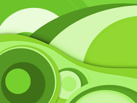 abstract vintage background with wave and circle on green