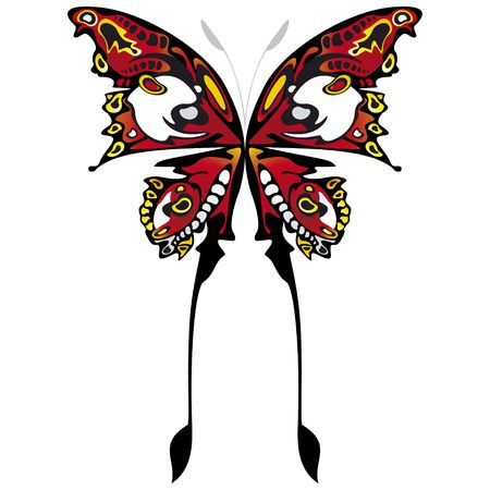 illustration ofbeautiful and colorful buttefly Stock Illustration - 3635887