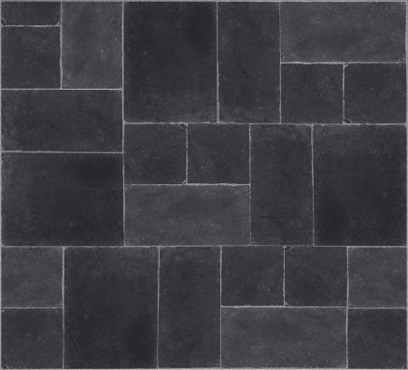 seamless texture of black stones