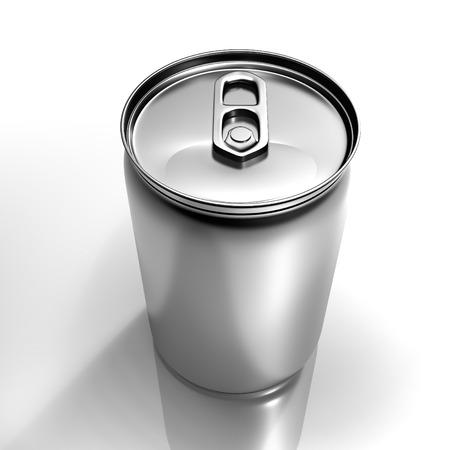 isolated aluminum beverage can isolated on white background Stock Photo
