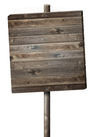 beautiful rustic wood sign isolated on white background