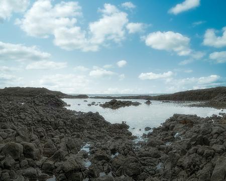 Oceanic pool of tropical island of sao tome